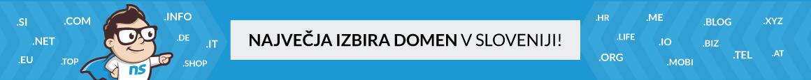 Največja izbira domen v Sloveniji!