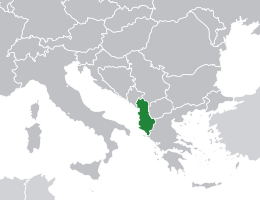Albanija lokacija