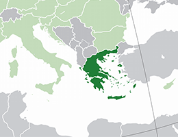 Grčija lokacija