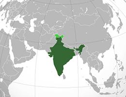 Indija lokacija