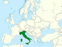 Italija lokacija