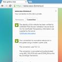 Prikaz Positive SSL v brskalniku chrome