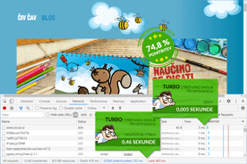 Civcav.si - DevTools po optimizaciji