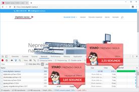 Digitalni-razrez - DevTools pred prenosom