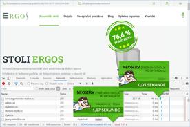Ergonomske-resitve.eu - DevTools po optimizaciji