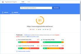 Ergonomske-resitve.eu - PageSpeed Insights po optimizaciji