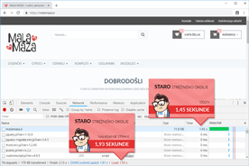 Malamaza.si - DevTools pred prenosom