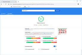 Moon.si - PageSpeed Insights po optimizaciji