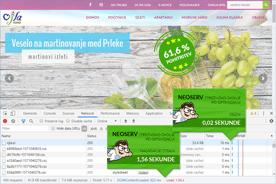 Turistična agencija Ojla - DevTools po optimizaciji