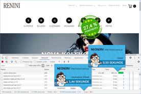 Renini-Shop.com - DevTools po prenosu