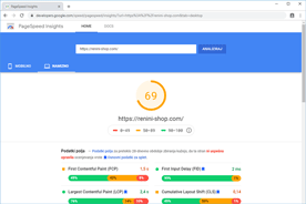 Renini-Shop.com - PageSpeed Insights po optimizaciji