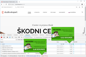 Studioekspert.si - DevTools po optimizaciji