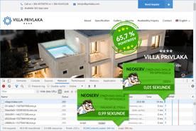 Villa Privlaka - DevTools po optimizaciji