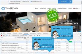 Villa Privlaka - DevTools po prenosu