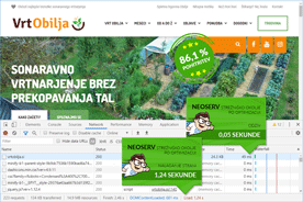 Vrt Obilja - DevTools po optimizaciji