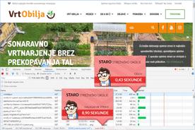 Vrt Obilja - DevTools pred prenosom