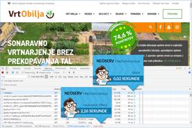 Vrt Obilja - DevTools po prenosu